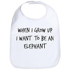 Grow up - Elephant Bib