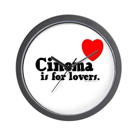 Cinema is for Lovers Wall Clock