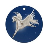 Pegasus In Flight Keepsake (Round)