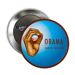 Sign of Progress 2.25&quot; Button (10 pack)