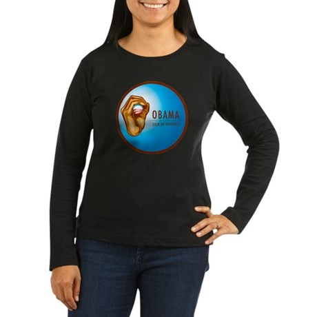 Sign of Progress Women's Long Sleeve Dark T-Shirt