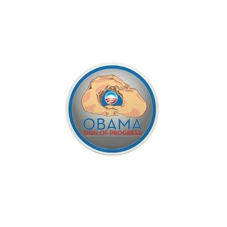 Obama Sign of Progress Mini Button (100 pack)
