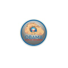 Obama Sign of Progress Mini Button (10 pack)