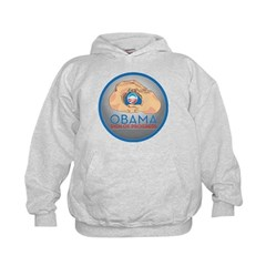 Obama Sign of Progress Kids Hoodie