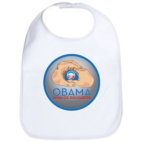 Obama Sign of Progress Bib