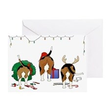 Beagle Christmas Greeting Card