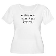 Grow up - Snowy Owl T-Shirt