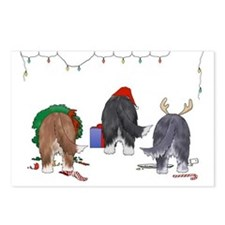 Bearded Collie Christmas Postcards (Package of 8)
