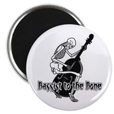 Black Skeleton Bassist Magnet