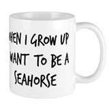 Grow up - Seahorse Small Mug
