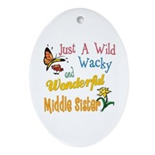 Wild Wacky Middle Sister Oval Ornament