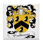 Prudhomme Family Crest Tile Coaster
