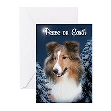 Peace Sheltie #2 Christmas Cards (Pk of 20)