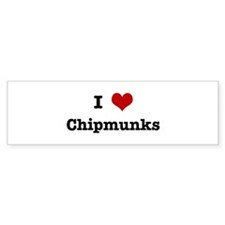 I love Chipmunks Bumper Sticker (50 pk)