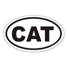 CAT Euro Oval Decal