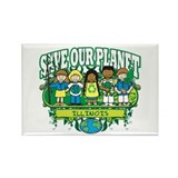 Earth Kids Illinois Rectangle Magnet