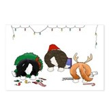 Cardigan Welsh Corgi Christmas Postcards(Pkg of 8)
