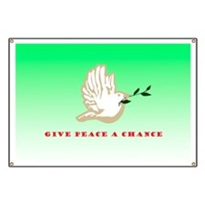 Give Peace A Chance Christmas Banner