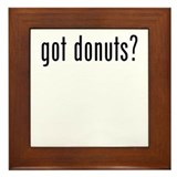 got donuts Framed Tile