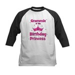 Grammie 1st Birthday Princess Kids Baseball Jersey