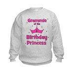 Grammie 1st Birthday Princess Kids Sweatshirt