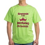 Grammie 1st Birthday Princess Green T-Shirt
