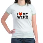 I Love My Wife Jr. Ringer T-Shirt