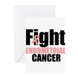 Fight Endometrial Cancer Greeting Cards (Pk of 10)