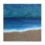 Beach Painting Tile Coaster