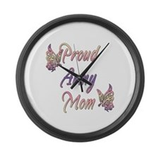 Proud Army Mom Large Wall Clock