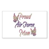 Proud Air Force Mom Rectangle Sticker 10 pk)