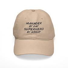 Manager Superhero by Night Baseball Cap