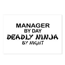Manager Deadly Ninja by Night Postcards (Package o