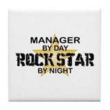 Manager Rock Star by Night Tile Coaster