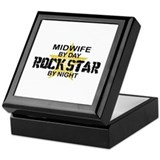 Midwife Rock Star by Night Keepsake Box