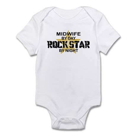 Midwife Rock Star by Night Infant Bodysuit