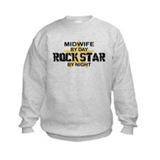 Midwife Rock Star by Night Sweatshirt