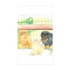 Poms in Yard Rectangle Sticker 50 pk)