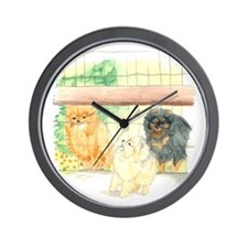 Poms in Yard Wall Clock