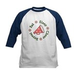 Eat Sleep Cheer Kids Baseball Jersey
