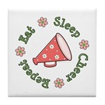 Eat Sleep Cheer Tile Coaster