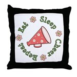 Eat Sleep Cheer Throw Pillow