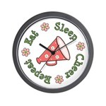 Eat Sleep Cheer Wall Clock