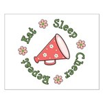 Eat Sleep Cheer Small Poster