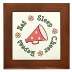 Eat Sleep Cheer Framed Tile