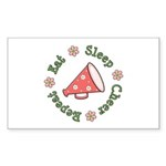 Eat Sleep Cheer Rectangle Sticker 50 pk)