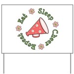 Eat Sleep Cheer Yard Sign