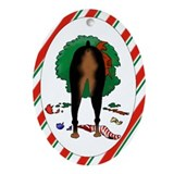 Doberman Christmas Oval Ornament