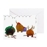 Daschund Greeting Cards (10 Pack)
