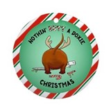 Dachshund Christmas Ornament (Round)